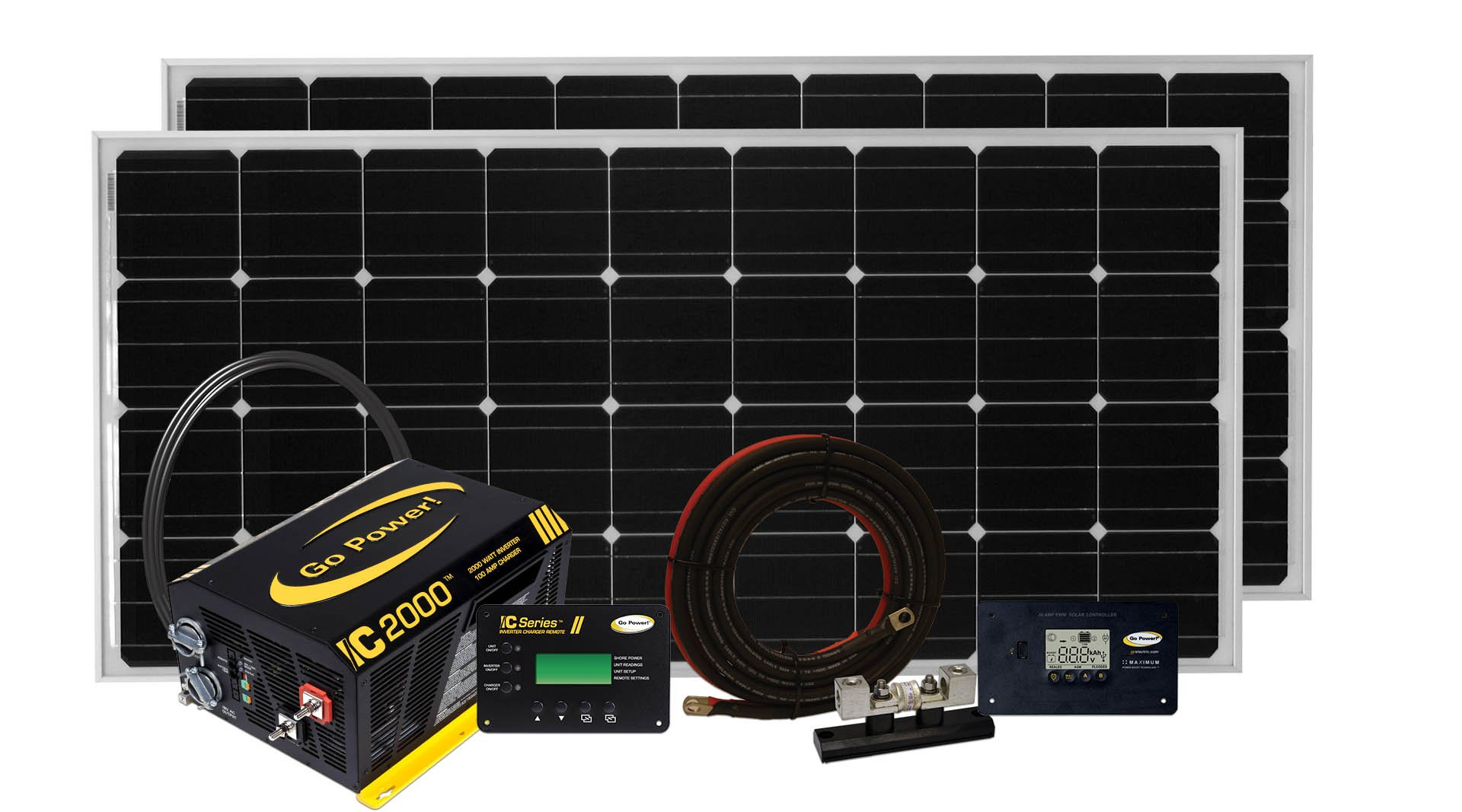 Go Power! Solar Elite Complete Solar and Inverter System with 320 Watts of Solar by Go Power!