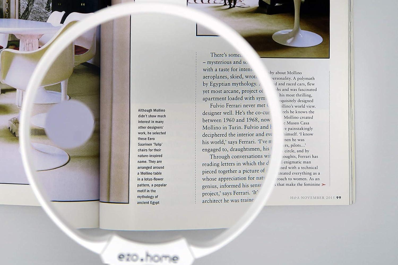 Lupa Iluminada con Luz de Lectura de Ezo.Home v/álida para Ni/ños incluye Lentes Amplias de 2x a 10x Lupa Ideal para Hobbies y Manualidades Port/átil y Ligera Iluminaci/ón LED