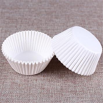 100 PC/Set Papel Pastel Formulaires Pastel Forro de Horno Muffin Caja Taza Casos Partido Bandeja Pastel Molde Decoración Herramientas Muffin Pastel Papel: ...