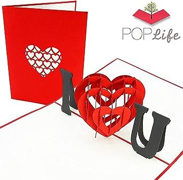 Amazon.com: PopLife - Tarjeta de felicitación con texto en ...