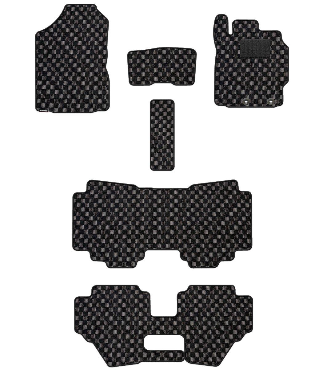 Hotfield トヨタ シエンタ フロアマット 新型 170G 175G ハイブリッド車/【標準仕様】 チェックブラック B012UOL6RO ハイブリッド車/【標準仕様】|チェックブラック チェックブラック ハイブリッド車/【標準仕様】