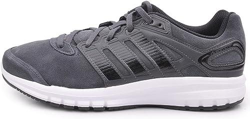 adidas Duramo 6 Lea M Chaussures de Running, NoirBlanc, 8.5