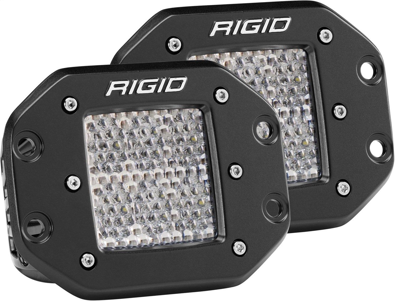 Rigid Industries 512513 D-Series Pro Specter Diffused Light; Flush Mount; Specter; 6 LEDs; Black Rectangular Housing; Set Of 2;