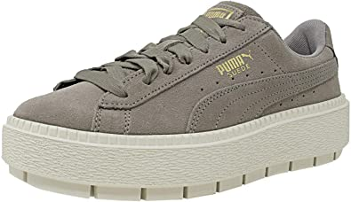 Image Unavailable. Image not available for. Colour  Puma Women s Suede  Platform Trace Rock Ridge Marshmallow ... 8966f38bd