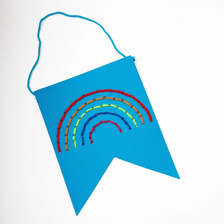 Paper Town Rainbow Banner Childrens Craft Kit