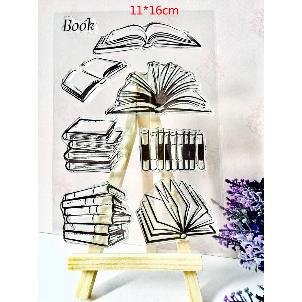 Dabixx Book Transparent Stamps Silicone Stamps Clear Stamps for DIY scrapbooking card cards making photo album Decorative