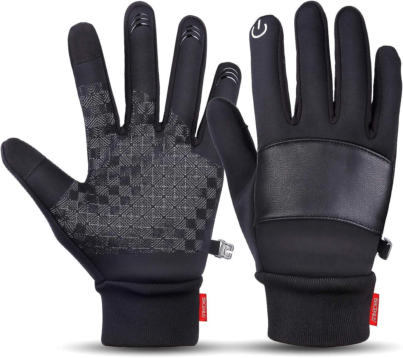 BRIGENIUS Winter Gloves for Men Women Anti Slip/Touch Screen Gloves Cold Weather