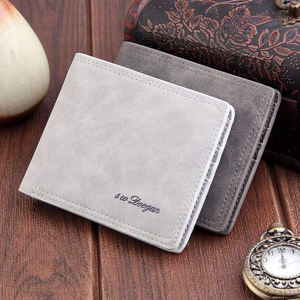 Hombres Corto Ultra-Slim Plegable Carpeta Portable Frontal ...