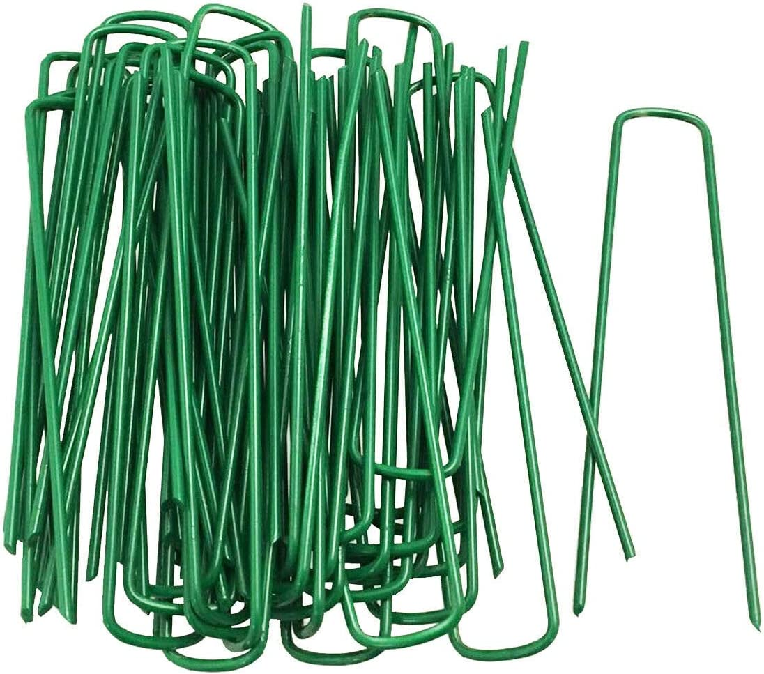 Artificial Grass Fixing UPins Staples Galvanised Metal Pegs Garden 50 PACK