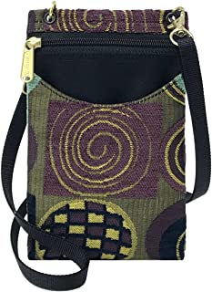product image for Danny K Women's Tapestry Crossbody Cell Phone or Passport Purse, Handmade in USA