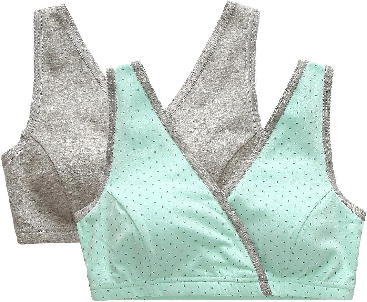 TALLA L ( Se adapta a 95B/ 95C/ 95D ). ZUMIY® Sujetador Premamá y de Lactancia para Mujer - Sujetadores para Embarazadas
