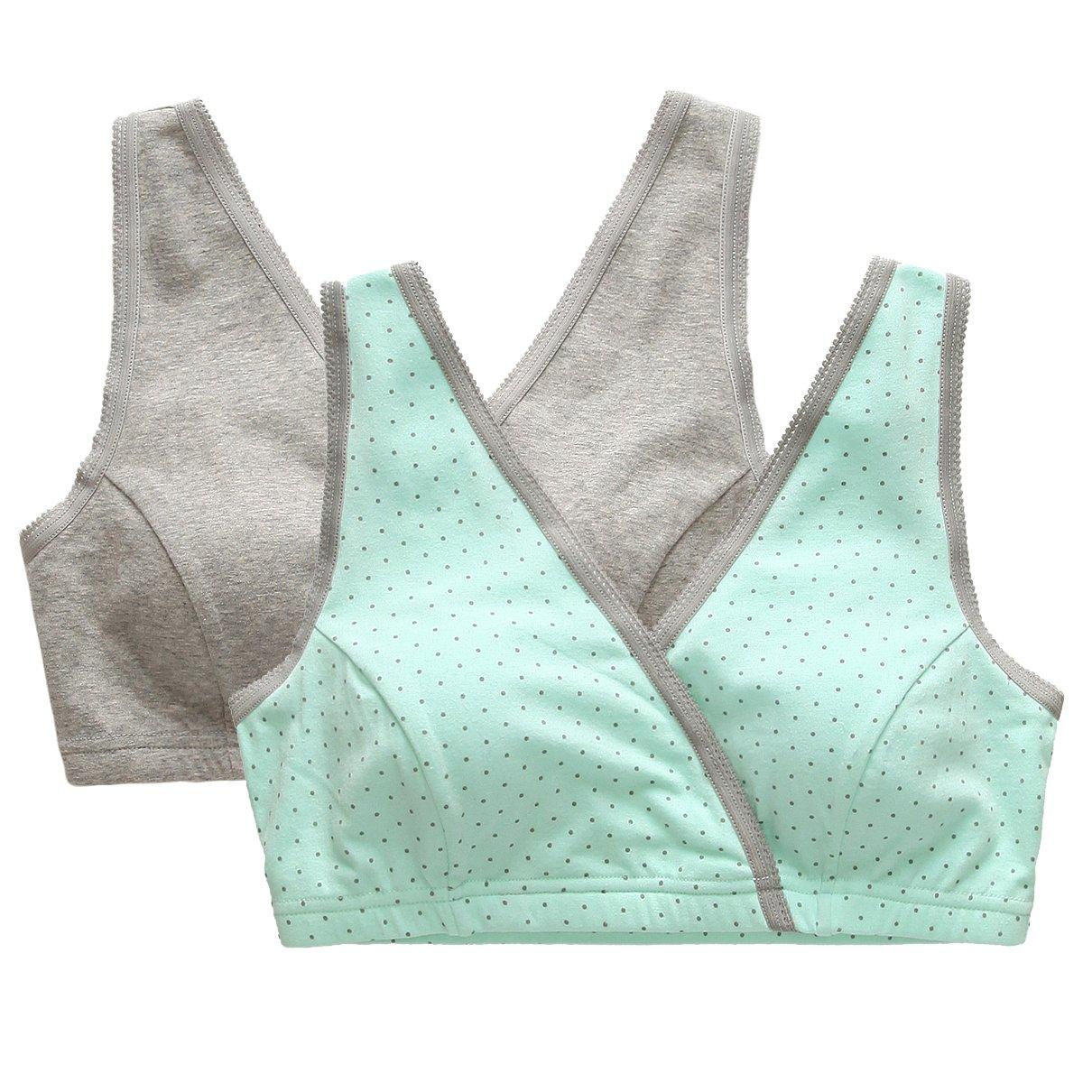 ZUMIY® Sujetador Premamá y de Lactancia para Mujer - Sujetadores para Embarazadas