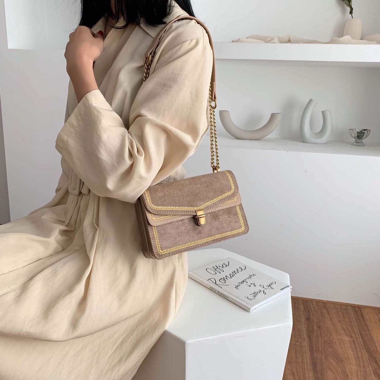 Scrub Leather Crossbody Bags For Women Chain Shoulder Messenger Bag Lady Travel Luxury Handbags Purses