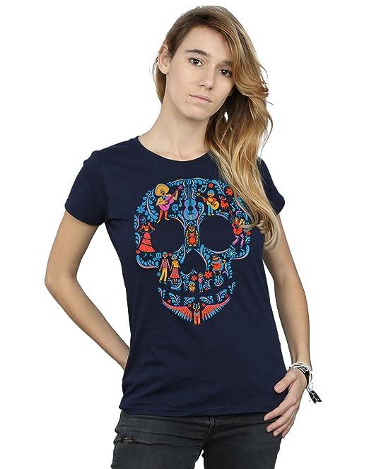 Coco Del Camiseta Skull Pattern Fit Mujer Novio Disney mwvnON80
