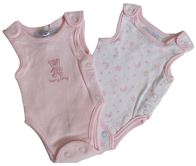 Premature 2 Pack Body Vests Pink Bodysuits Tiny Baby Incubator Vests