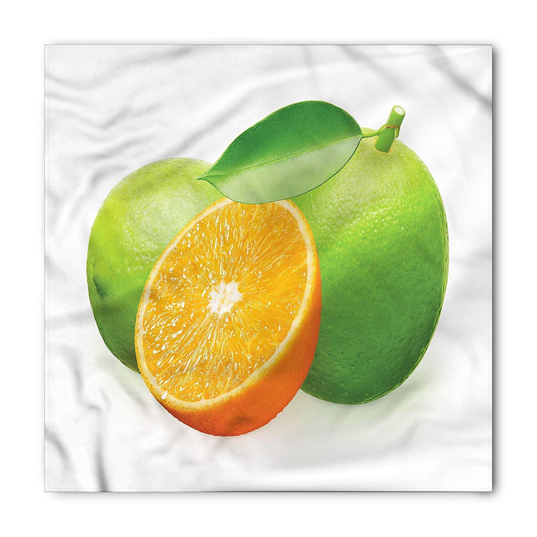 Soefipok Pañuelo verde y naranja, diseño naranja lima, cabeza y ...