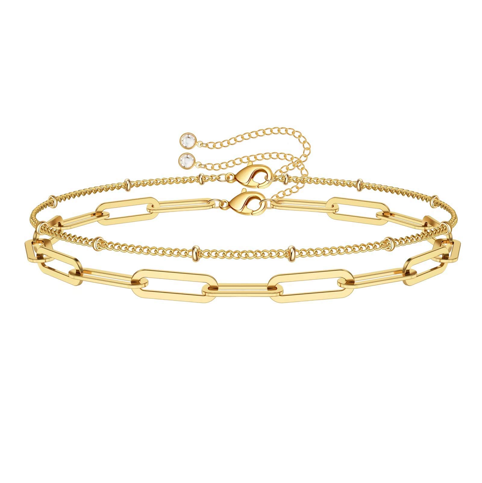 Dainty Chain Bracelet Gift for Her Gold Chain Bracelet Gold Filled Mariner Link Bracelet Gold Layering Bracelet Gold Bracelet Bracelet