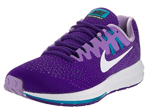 promo code 926cf 2e9b7 Image Unavailable. Image not available for. Color  NIKE Women s WMNS Air  Zoom Structure 20, Force Purple White-Blue ...