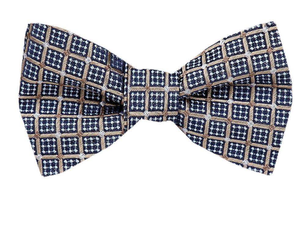 Silk Pattern Brown Self Tie Bow Tie