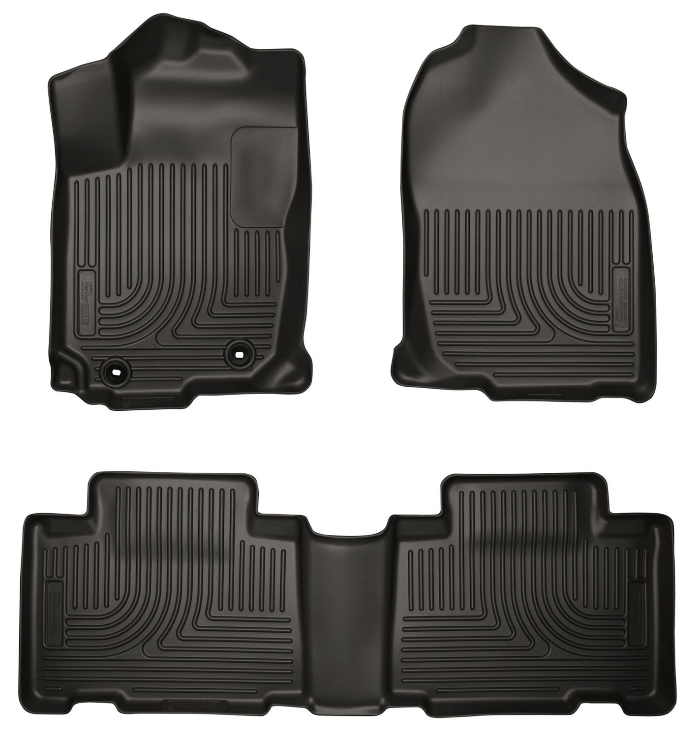 Amazon com husky liners 98971 weatherbeater black front and 2nd seat floor liner automotive
