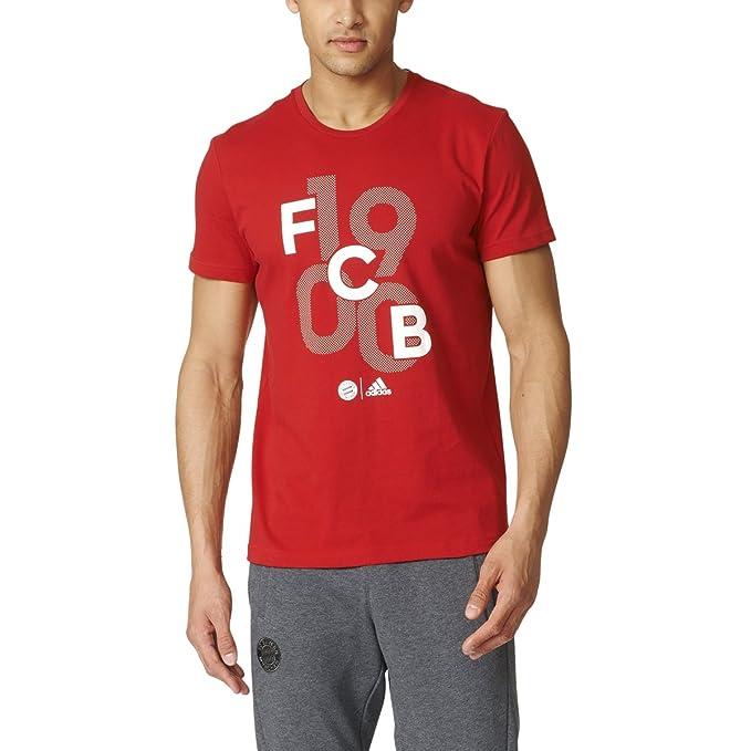 eb9098b5b54084 Adidas FC Bayern Munchen Mens Goalkeeper Graphic Soccer Tee XS True ...