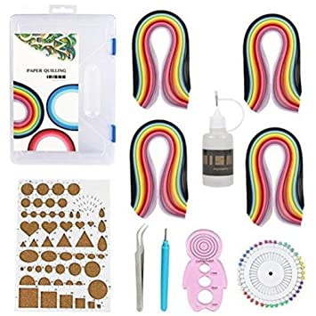 lesirit papel Quilling Kit de manualidades DIY Junta molde crimpadora peine herramientas: Amazon.es: Juguetes y juegos