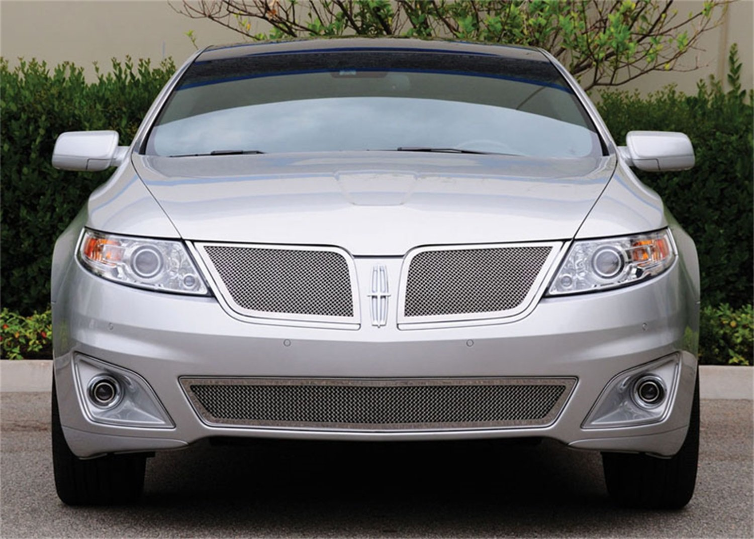 TRex Grilles 54718 Upper Class Small Formed Mesh Stainless Polished Finish Grille Insert for Lincoln MKS