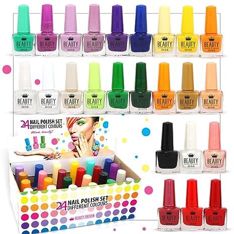 Set De 24 Esmalte De Uñas 24 Colores Diferentes Botella Moderna De 5ml (set B)