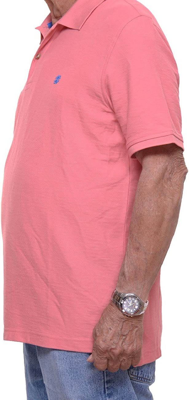 IZOD Mens Regular Fit Advantage Performance Short Sleeve Solid Polo