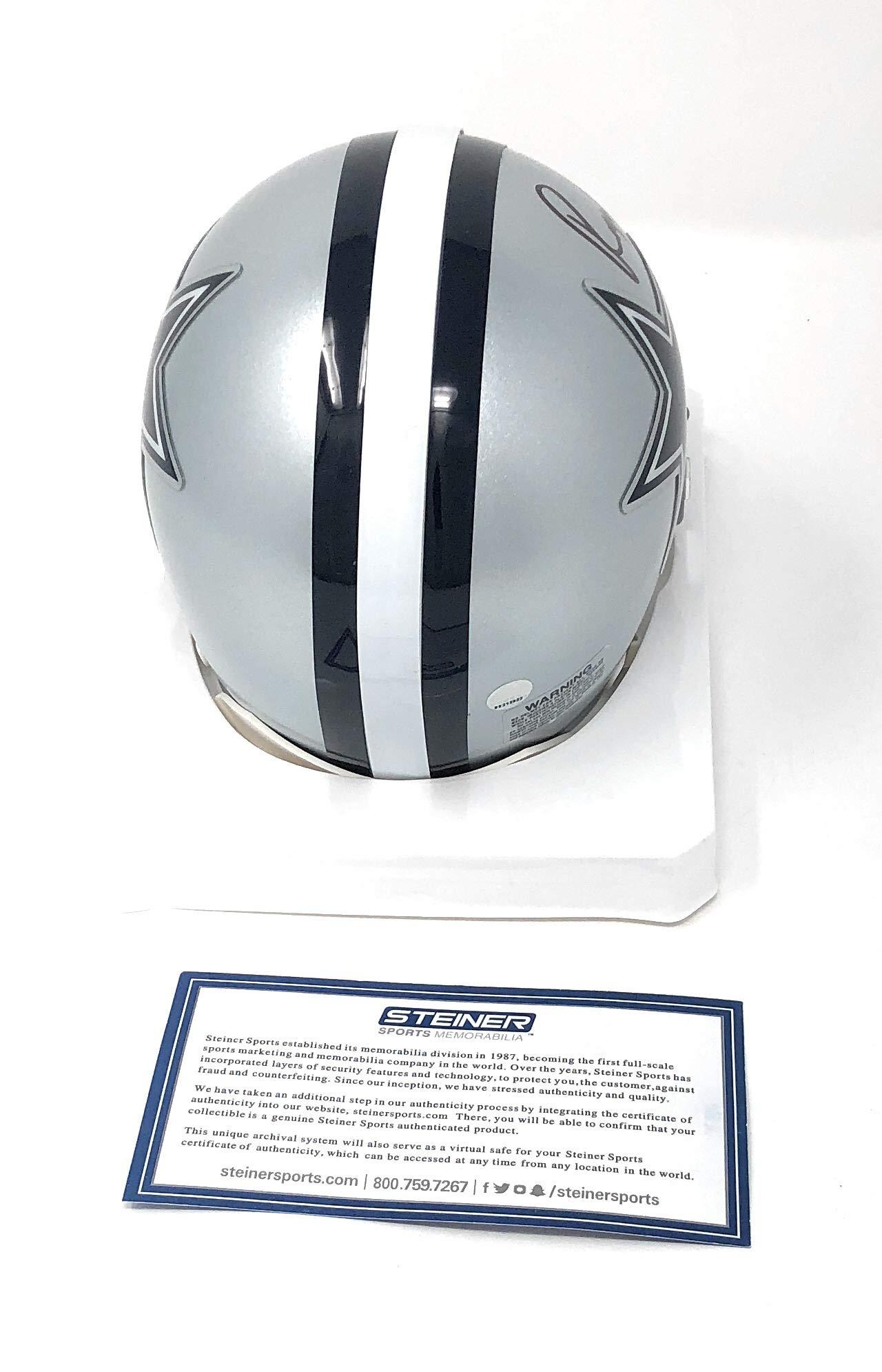 Roger Staubach Dallas Cowboys Signed Autograph Mini Helmet Steiner Sports Certified
