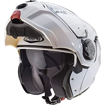 Caberg Droid Flip Front Motorcycle Helmet XS Metal White