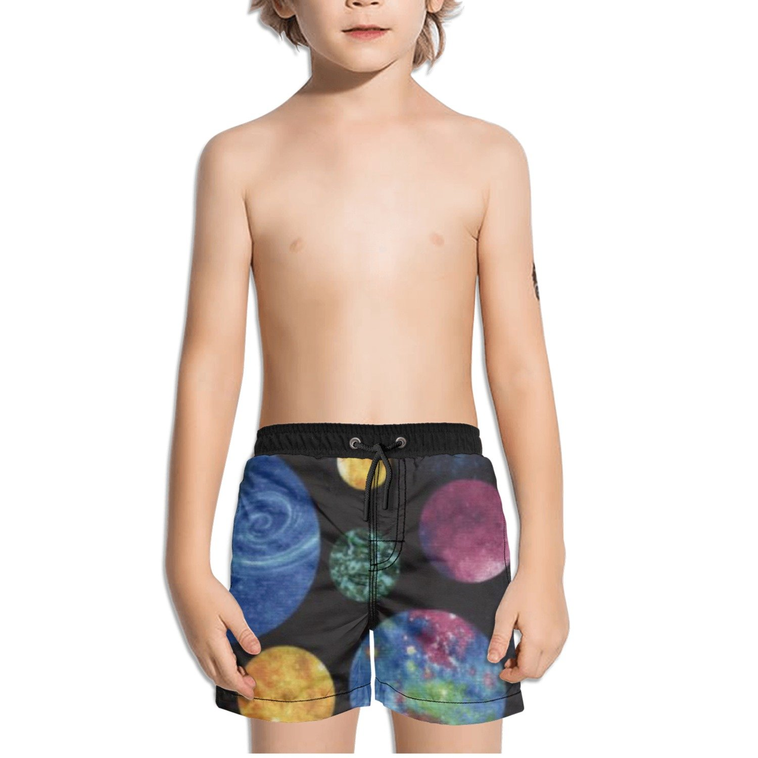 Ouxioaz Boys Swim Trunk Out of This World Multi Planets Planet Beach Board Shorts