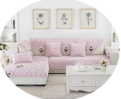 Amazon Com Pan House Diy Floral Plush Sofa Cover Thick Anti
