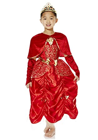 4b6904bad039 Disney Licensed Red Princess Belle fancy dress costume 7-8 year-old with  Cape & Tiara. Made by F&F: Amazon.co.uk: Toys & Games