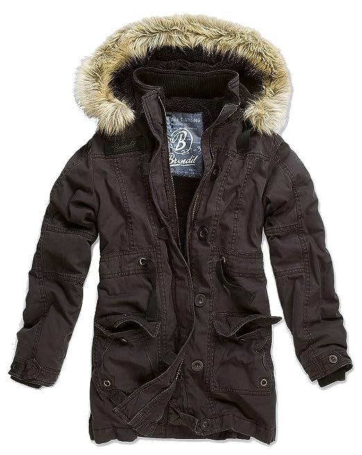 BRANDIT Nolita Damen Jacke Vintage Parka Winterjacke Kapuze