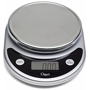 Ozeri ZK14-S Pronto Digital Multifunction Kitchen and Food Scale, Elegant Black, 8.25