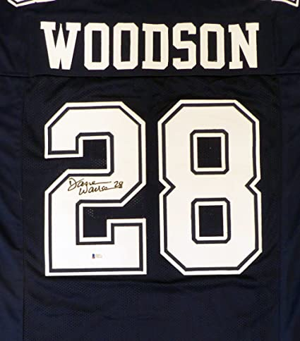 Dallas Cowboys Darren Woodson Autographed Blue Jersey Beckett BAS at ... d88c77c6c