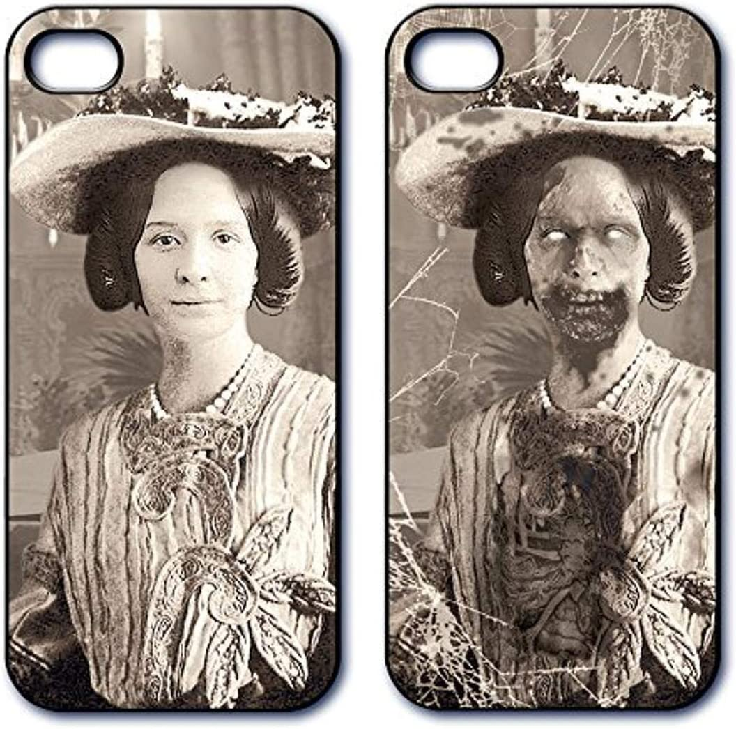 Dimension 9 Slim 3D Lenticular Cell Phone Case for Apple iPhone 5 or iPhone 5s - 1800s Zombie Woman with Hat