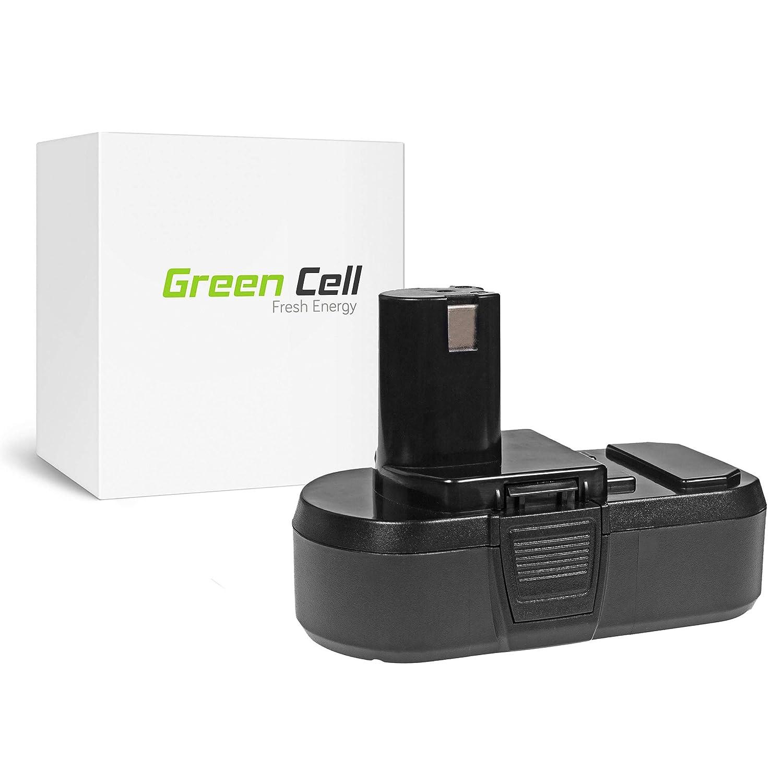 verde Cell® Utensili Elettrici Batteria per Ryobi P234G (Panasonic Li-Ion celle 2.5 Ah 18V)
