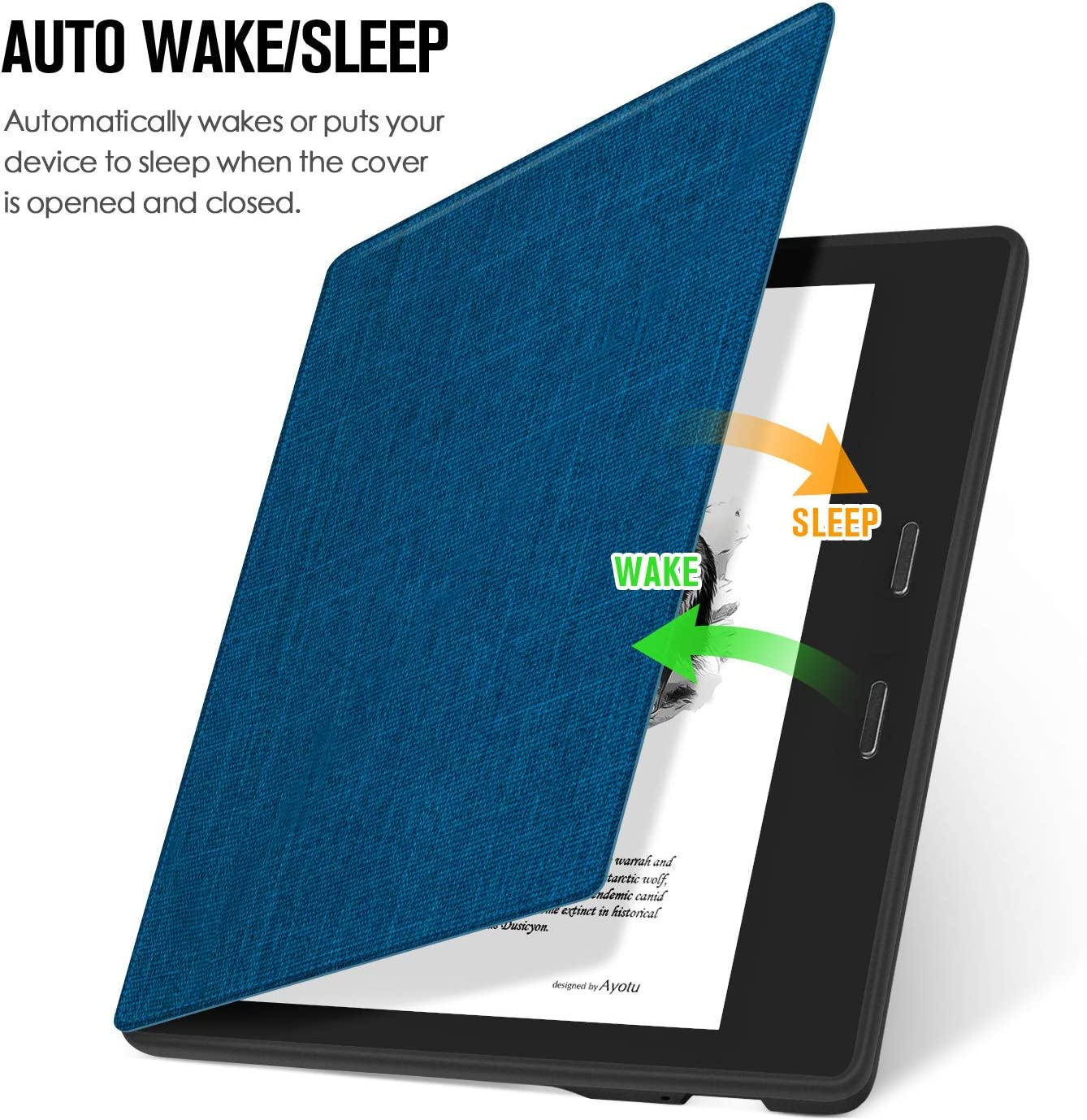 """Ayotu Colorful Case for All-New Kindle Oasis PU Leather Smart Waterproof Cover,Auto Wake//Sleep,ONLY Fits All-New 7/"""" Kindle Oasis,KO The Boy and Fox 10th Gen, 2019 Release /& 9th Gen, 2017 Release"""