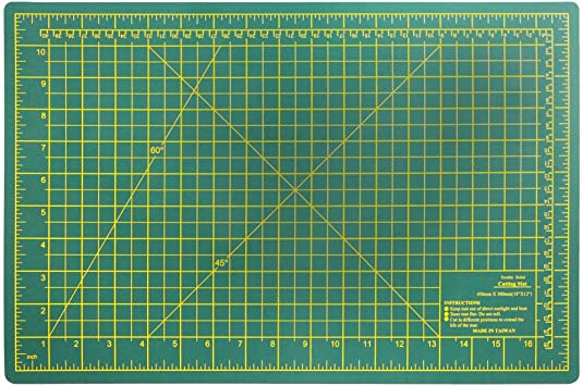 Amazon Com Diy Craft Engineering Self Healing Cutting Mat Double Sided Green 18x12 Home Improvement