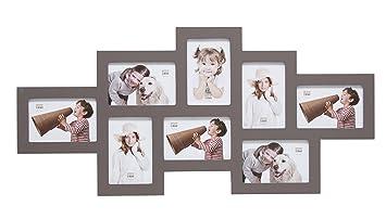 Deknudt Frames S65SW9 Cadre Multi Photos 8 Ouvertures Taupe 10 X 15 Cm