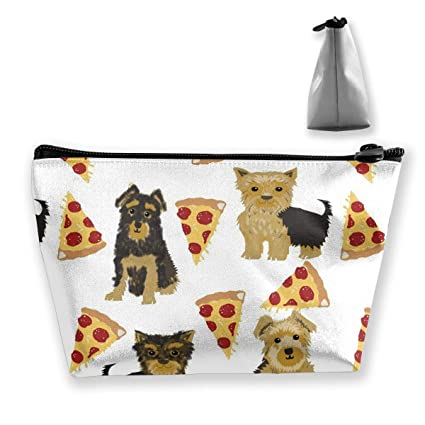 Perros lindos con bolsa de maquillaje de pizza Bolsas de ...