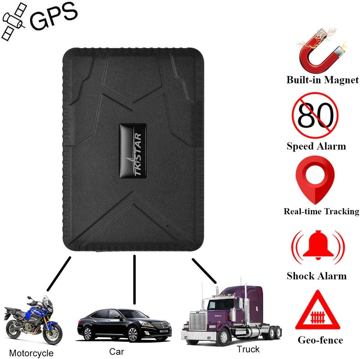 Coche GPS tracker-strong imán Big de 10000 mAh recargable vehículo/Moto/ Coche Espía oculta impermeable antirrobo de seguimiento GSM GPRS Coche GPS Tracker Personal con anti-light Sensor Alarma: Amazon.es: Electrónica