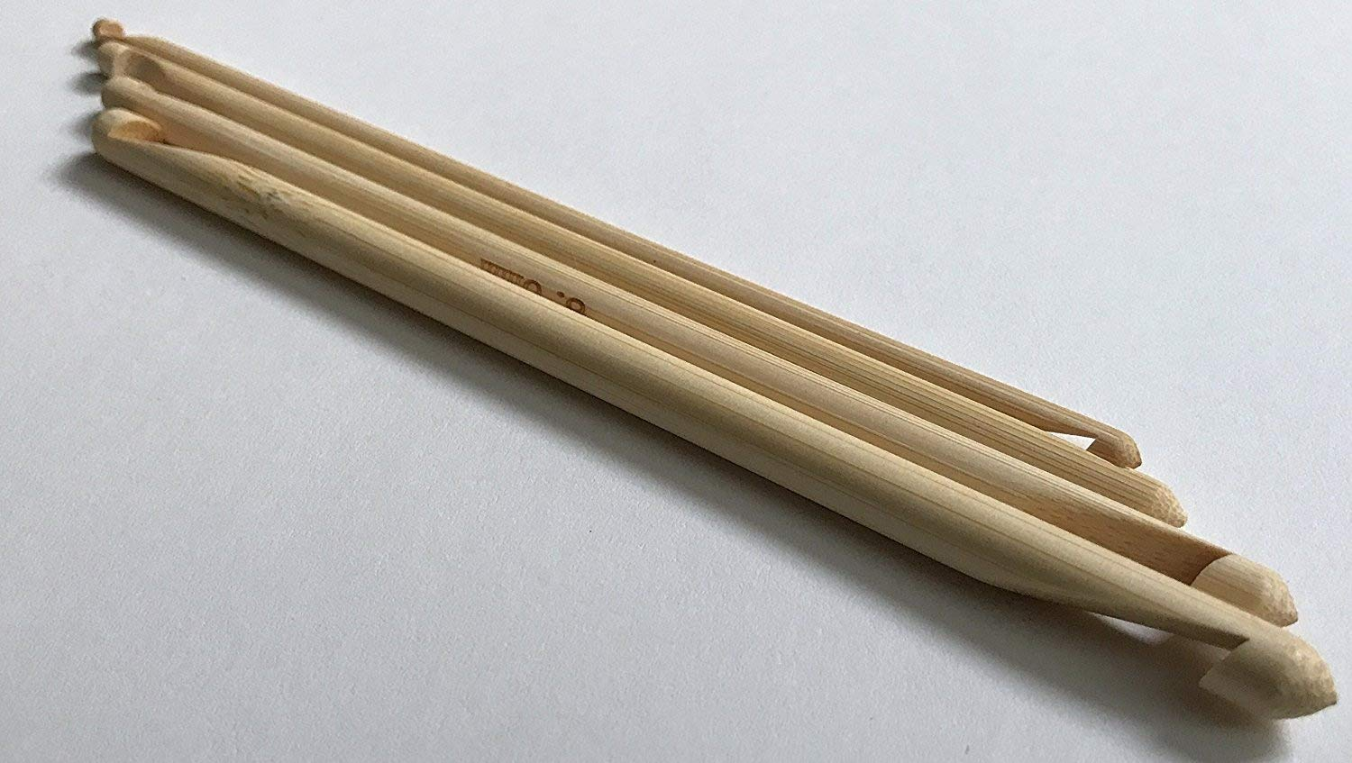 Brand New Double Ended Tunisian Bamboo Crochet Hook 4 Sizes: 7.0 mm G H J Set Sweet Crafty Tools