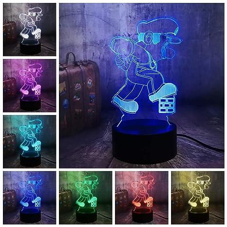 3D Ilusión óptica Lámpara Luz de Noche de Escritorio LED ...