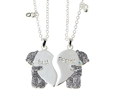 me to you tatty teddy best and friend silver plated pendant