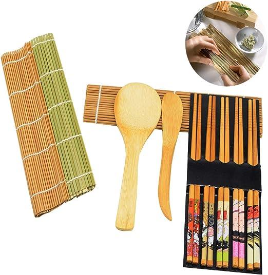 Osuter 6PCS Kit para Hacer Sushi Bambu, Sushi Maker Durable ...