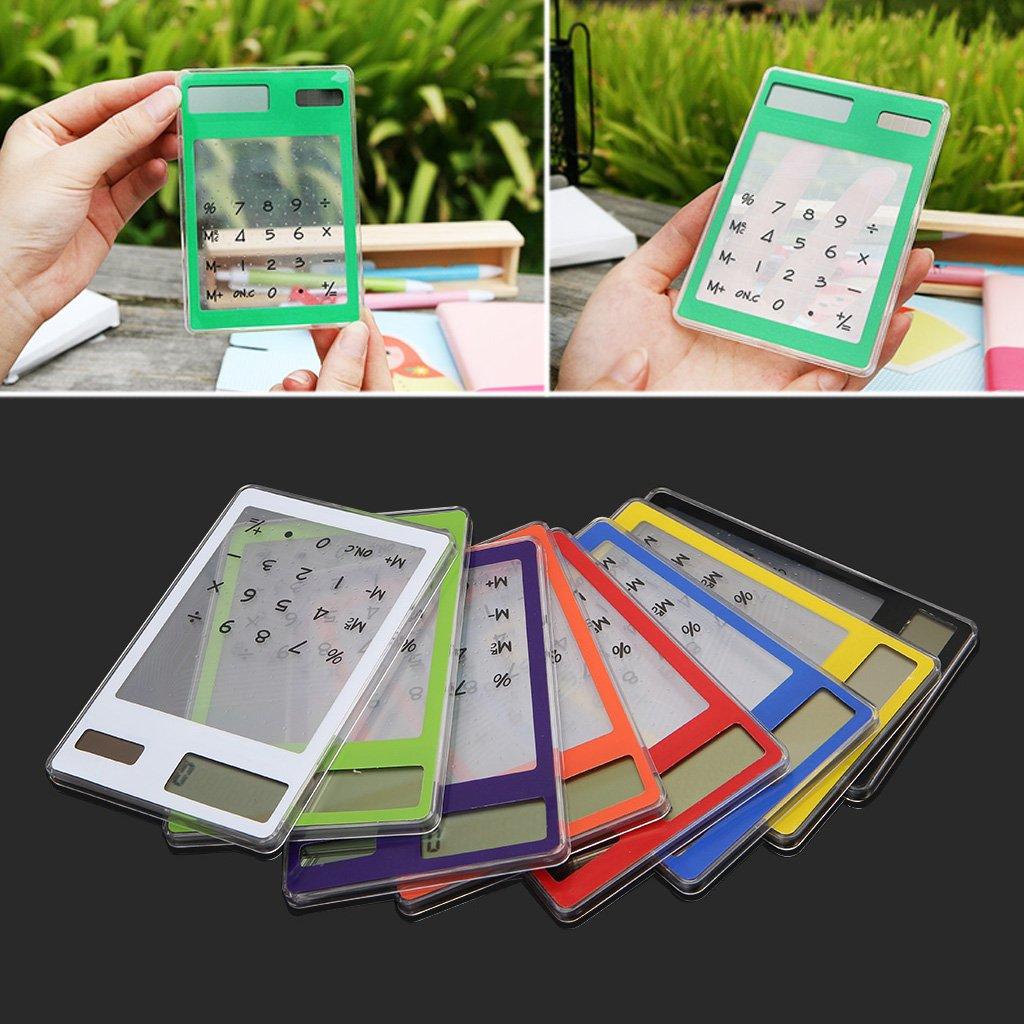 Calcolatrice solare sottile LCD a 8 cifre per ufficio scolastico Mayoaoa