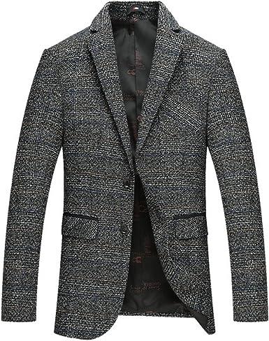 UUYUK Men Business 2 Button Casual Slim Fit Suit Blazer Coat Jacket